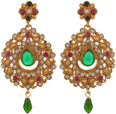 Blacksmith Rajwada Queen Crystal Metal Drop Earring
