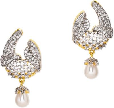 Prita Designer American Diamond Alloy Drop Earring
