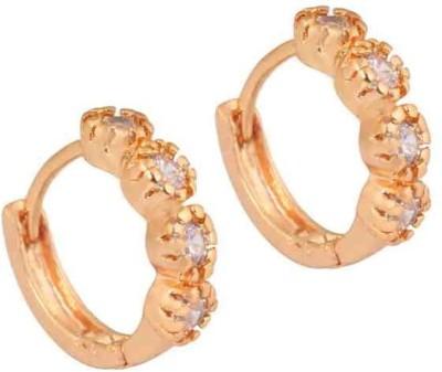 SuperShine jewelry Spring Sprakle Zircon Brass Huggie Earring
