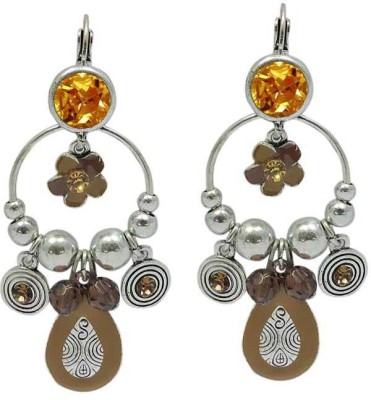 Sanaa Creations ETHEREAL PAIR OF BROWN COLOR OXIDIZED FOR WOMEN,S Alloy Clip-on Earring