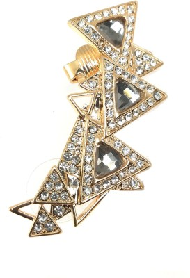 Ammvi Trendy Triangles CZ Embellished Alloy Cuff Earring