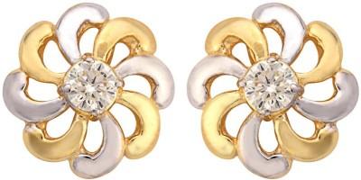 Thegemsgallery Moissani-Earring-003 Moissanite Sterling Silver Stud Earring