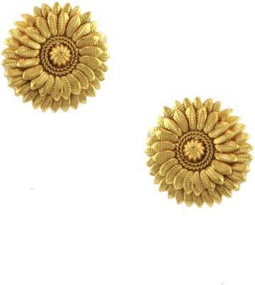 Orniza Gold Earrings in Golden Color and Golden Polish Brass Stud Earring