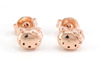 Fab Fashion Round Cut Stainless Steel Stud Earring