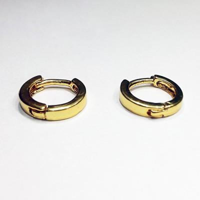 Fashion Max Latch Back Design Brass Huggie Earring