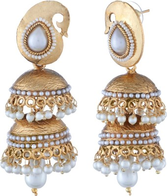 Tatva Double Layer Alloy Jhumki Earring