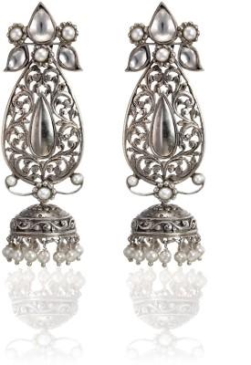 Aarohee Traditional Sparkle Sterling Silver Jhumki Earring