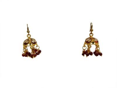 W Stop Meean Jumki Crystal Brass Jhumki Earring