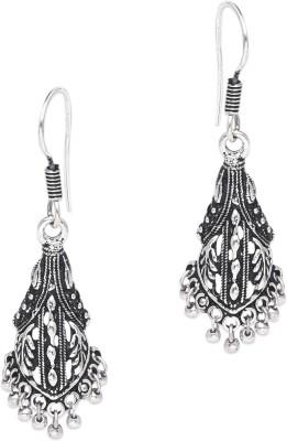 Supriya Antique White Metal Dangle Earring