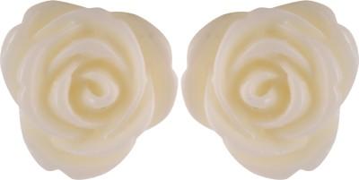 Jewellerynstyle jns-owtpz-Rose Stainless Steel Stud Earring