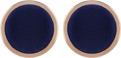 Gracent Circle of Life Blue Fabric and Metal Metal Stud Earring