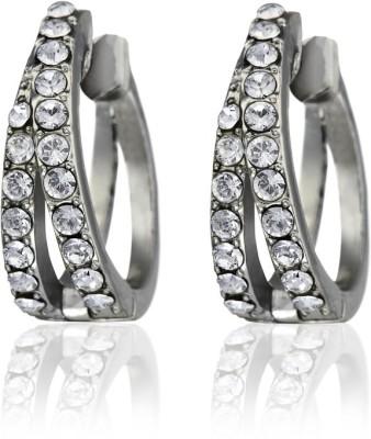 Eclat 514321R Swarovski Crystal Alloy, Brass Huggie Earring