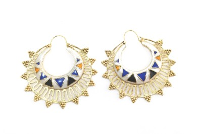 Fashion Pitaraa Color Spark Copper Chandbali Earring