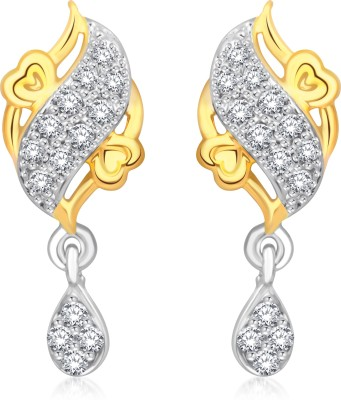 Classic Sweety Gold And Rhodium Plated Earrings for Women [CJ1020ERG] Cubic Zirconia Alloy Drop Earring