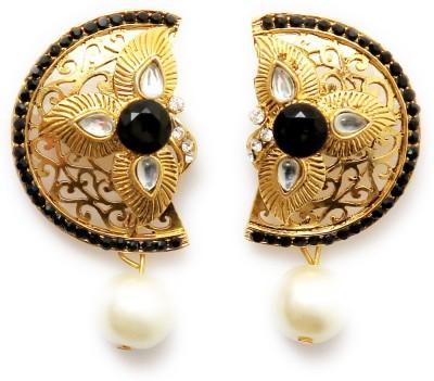 Greek Sojourn Antique15 Pearl Brass Drop Earring