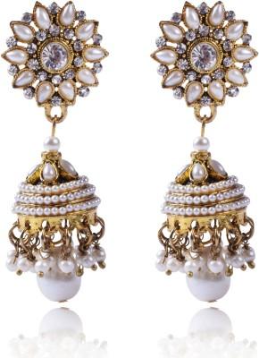 Shreemayi Creations Ameyaa Zircon, Pearl Alloy Jhumki Earring