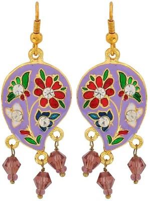Maayra Unique Meenakari Crystal Brass Dangle Earring