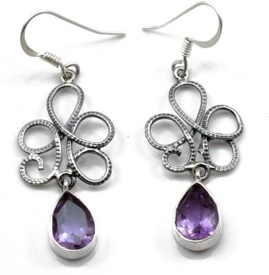 YugshaJewels Amethyst Silver Dangle Earring