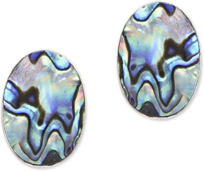 Watch Me Stone Collage Earrigs- Wine Quartz, Topaz Sterling Silver Stud Earring
