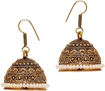 CTW Bali Style Oxidised Alloy Jhumki Earring