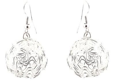 Avrom Silver Celtic round Brass, Copper Drop Earring