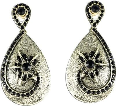The Fine World Coloured Stone Letkan Zircon Metal Drop Earring