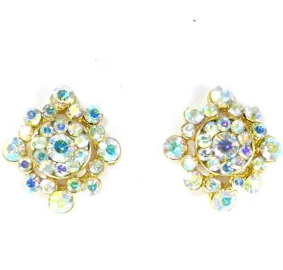 SPM Stones Sparkle Cubic Zirconia Brass Stud Earring