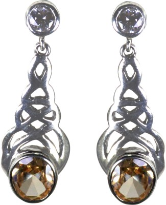 Pearl Paradise Designer Collection - (O) Crystal Silver Drop Earring