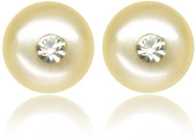 SJ Pearls Hanging Pearl Alloy Stud Earring