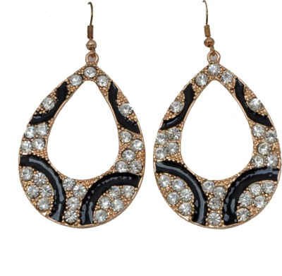 WoW White And Black Crystal Alloy Dangle Earring