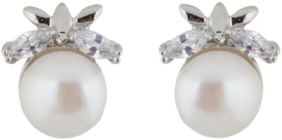 Classique Designer Jewellery Stud Type Pearl Pearl Alloy Stud Earring