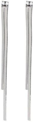 ToniQ Silver Metal Tassel Earring