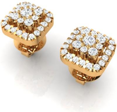 Arkina Diamonds Matrix Drop Yellow Gold 18kt Diamond Stud Earring