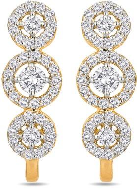 Voylla Swarovski Crystal Gold Stud Earring at flipkart