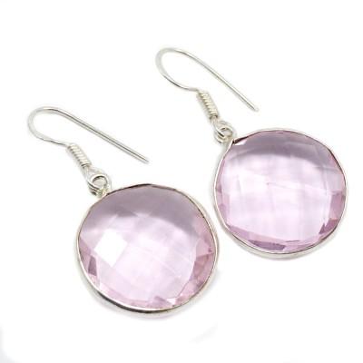 Silvesto India 1452 Quartz Sterling Silver Drop Earring, Dangle Earring