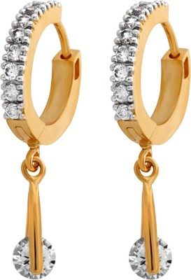 Alysa Cubic Zirconia Copper, Brass Hoop Earring at flipkart
