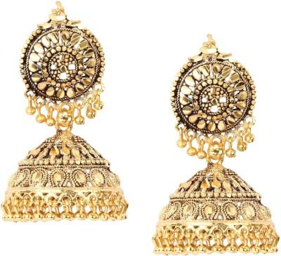 Giftmania Royal Sparkle Antique Brass Jhumki Earring
