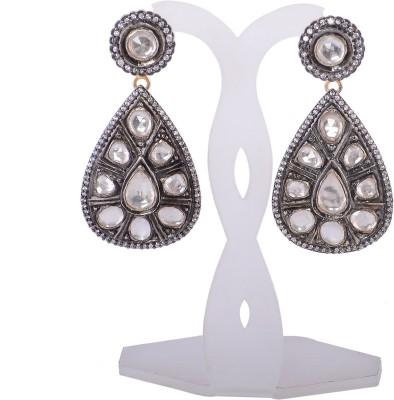 Silvery SGPE-053-MN Silver Drop Earring