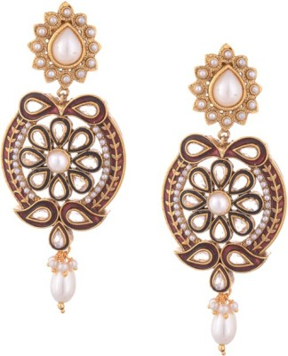 Young & Forever Bollywood Inspired Ethnic Diva Copper, Stone Chandbali Earring
