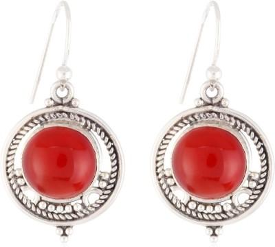 Aarohee Pure Love Onyx Sterling Silver Dangle Earring