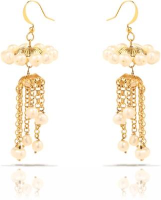 Oviya Elegant Fashion Pearl Brass, Alloy Jhumki Earring