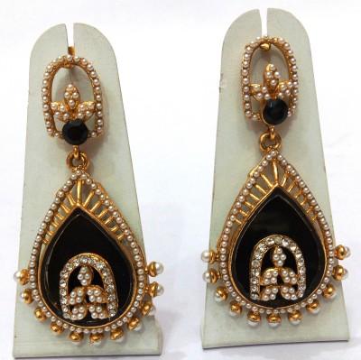 Womaniya black pearl beauty Alloy Drop Earring