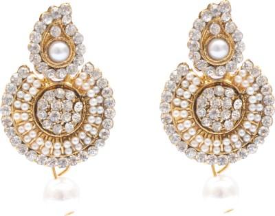 Neelam Antique Alloy Chandbali Earring