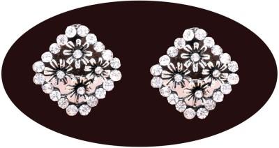 Indian Cheez Small Black Shade Flowers Carving Big Designer Earrings Metal Earring Set