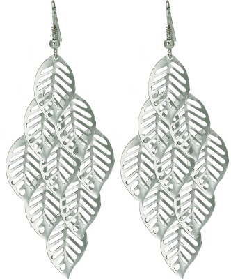 Amour Silver tassel leaves Alloy Drop Earring