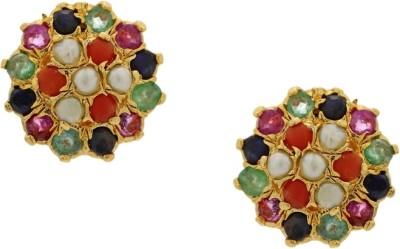 Krishna Pearls & Jewellers Princess Delight Zircon Alloy Stud Earring