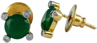 Gehnamart Traditional Green Alloy Stud Earring