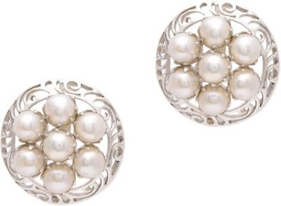 Watch Me Dizzy Daisy Pearl Earrings Pearl Sterling Silver Stud Earring