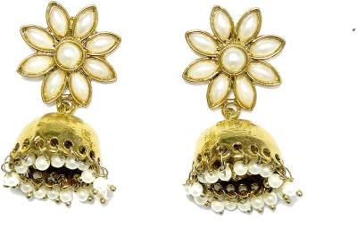 Fashion Pitaraa Pearl Delight Copper Jhumki Earring