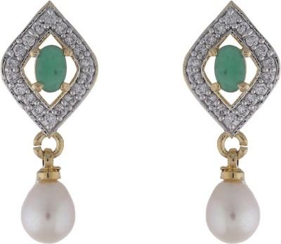 Jewel Planet Peacock Shape Pearl Alloy Drop Earring